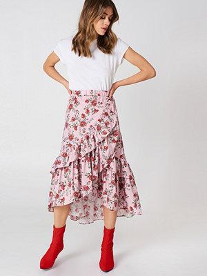 Andrea Hedenstedt x NA-KD Overlap Maxi Frill Skirt