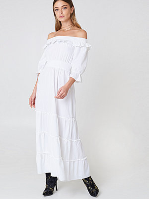Debiflue x NA-KD Off Shoulder Ankle Dress