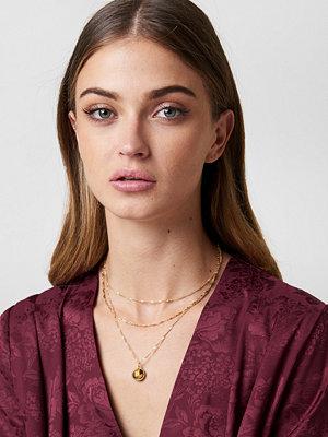 Tranloev smycke Layered Stone Necklace brun guld