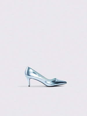 NA-KD Shoes Metallic Mid Heel Pumps blå
