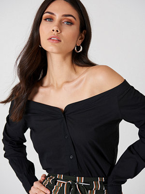 NA-KD Trend Slip Shoulder Shirt