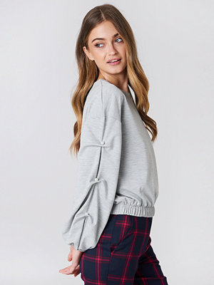 NA-KD Trend Pearl Sleeve Detail Sweater