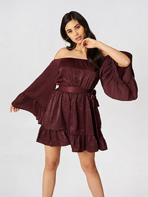 HOMMAGE Off Shoulder Mini Dress