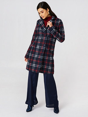 NA-KD Checked Short Coat multicolor