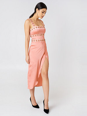 For Love & Lemons Opal Beaded Midi Dress