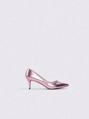 Pumps & klackskor - NA-KD Shoes Metallic Mid Heel Pumps rosa