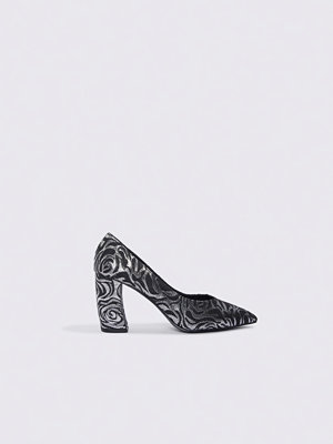 NA-KD Shoes Rounded Heel Pumps multicolor / silver