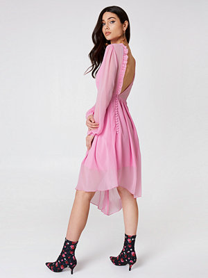 NA-KD Asymmetric Cut Open Back Dress - Midiklänningar