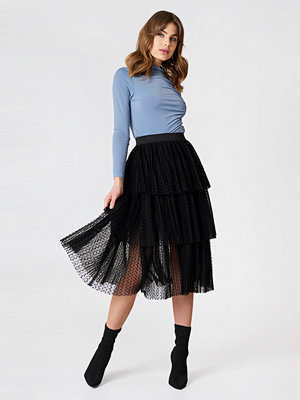 NA-KD Boho Pleated Mesh Skirt