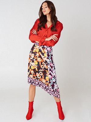 NA-KD Multiprint Block Skirt rosa multicolor