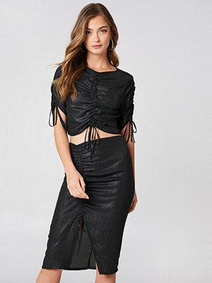 NA-KD Party Drawstring Asymmetric Midi Skirt