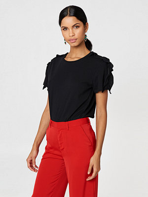 Rut & Circle Tilda Frill Top svart