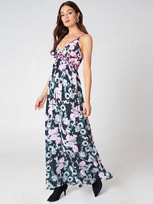 NA-KD Multiprint V-neck Dress - Maxiklänningar