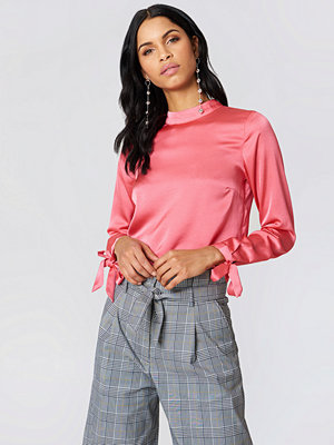 Rut & Circle Ebba Back Knot Blouse rosa