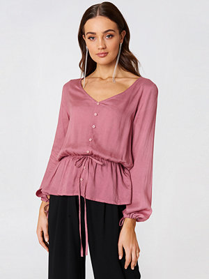 Rut & Circle Beline Button Blouse rosa