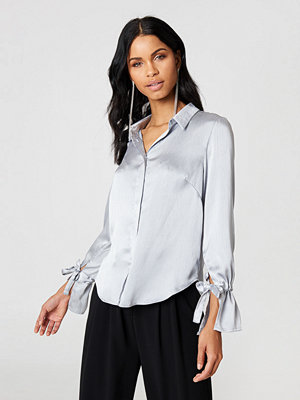Rut & Circle Maci Pleat Shirt silver