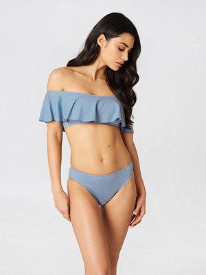 Boohoo Denim Frill Bikini Set