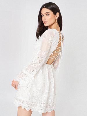 Glamorous Long Sleeve Lace Mini Dress