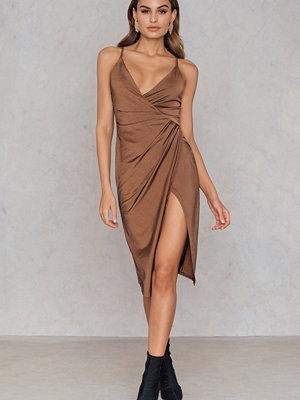 Boohoo Slinky Draped Dress