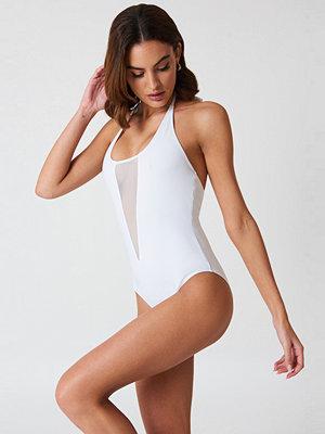 Boohoo Kos Mesh Swimsuit - Baddräkter