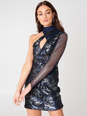 Boohoo One Shoulder Sequin Dress