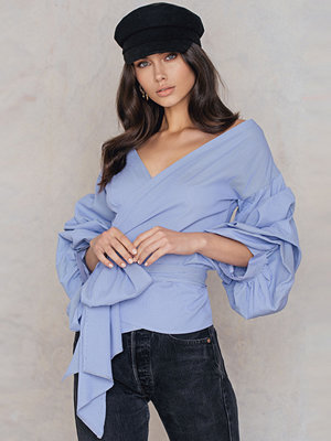 Boohoo Exaggerated Sleeve Blouse