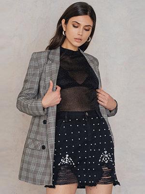 Boohoo Distressed Embellished Skirt