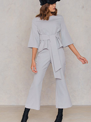 Boohoo Tie Front Top and Flare Trouser Set