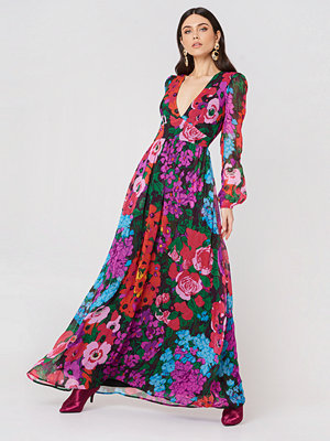 Twinset Abito Sixty Flower Maxi Dress