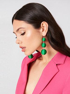 NA-KD Accessories smycke Textured Triple Globe Drop Earrings