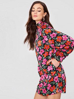 Mango Floral Print Dress multicolor