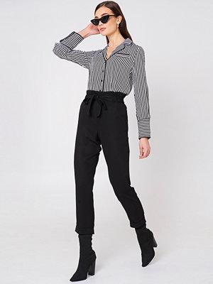 Mango svarta byxor Soft Cord Trousers