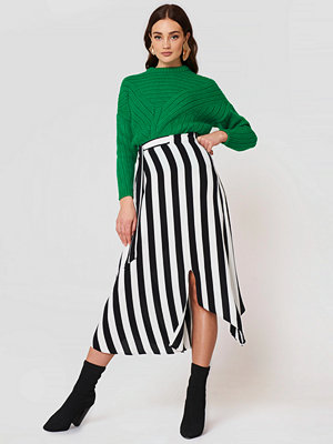 Mango Striped Asymmetric Skirt