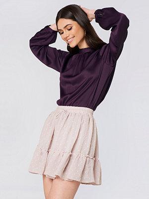 Glamorous Ruffle Detail Midi Skirt