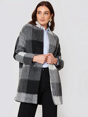 Mango Textured Cocoon Coat