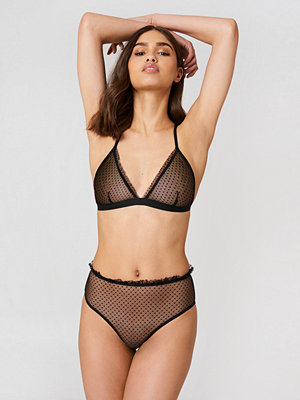NA-KD Lingerie Frill Edge Dotted Mesh Panty