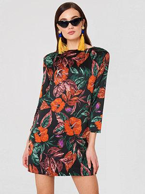 Mango Floral Pattern Dress multicolor