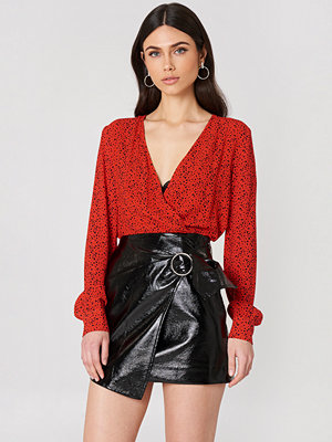 J.O.A. Wrap Front Mini Skirt