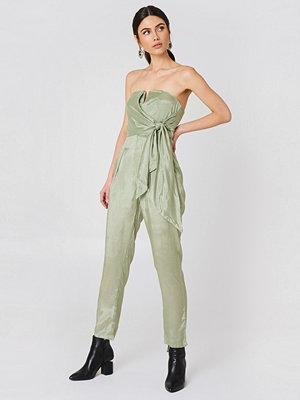 Glamorous Bandeau Jumpsuit grön