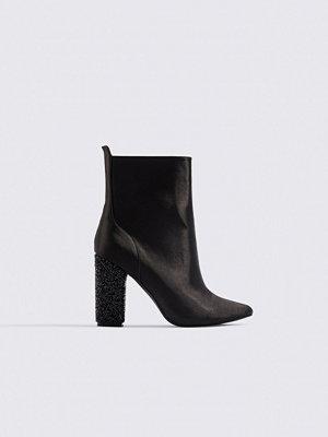 NA-KD Shoes Sparkling Heel Ankle Boots svart