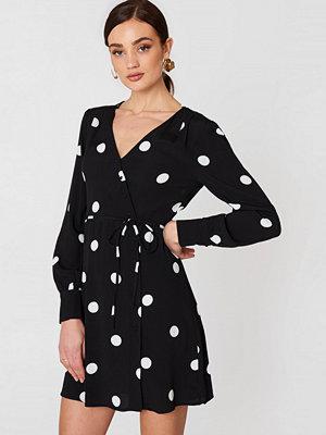 Mango Print Wrap Dress