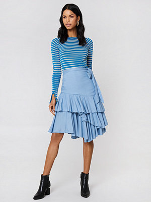NA-KD Trend Triple Layer Frill Midi Skirt