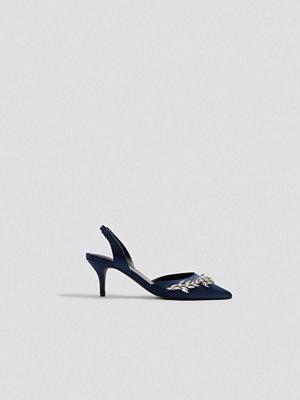 NA-KD Shoes Embellished Slingback Pumps - Högklackat