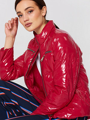 Mango Vinyl Quilted Coat