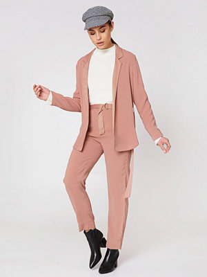 Saint Tropez persikofärgade byxor Tie Belt Pants