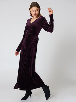 Rut & Circle Velvet Coat Dress lila