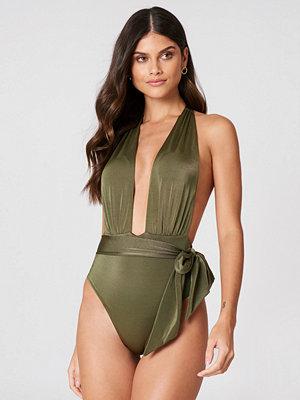 Trendyol Halter Wrap Swimsuit