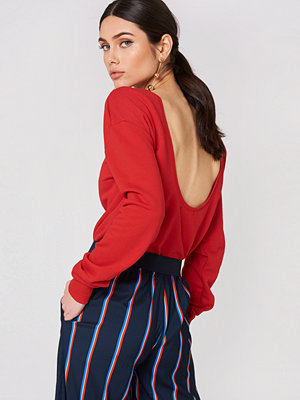 NA-KD Basic Deep Back Sweater