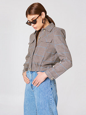 Trendyol Checkered Short Jacket