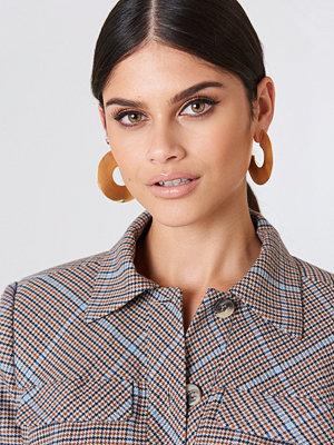 NA-KD Accessories smycke Metallic Open Hoop Earrings